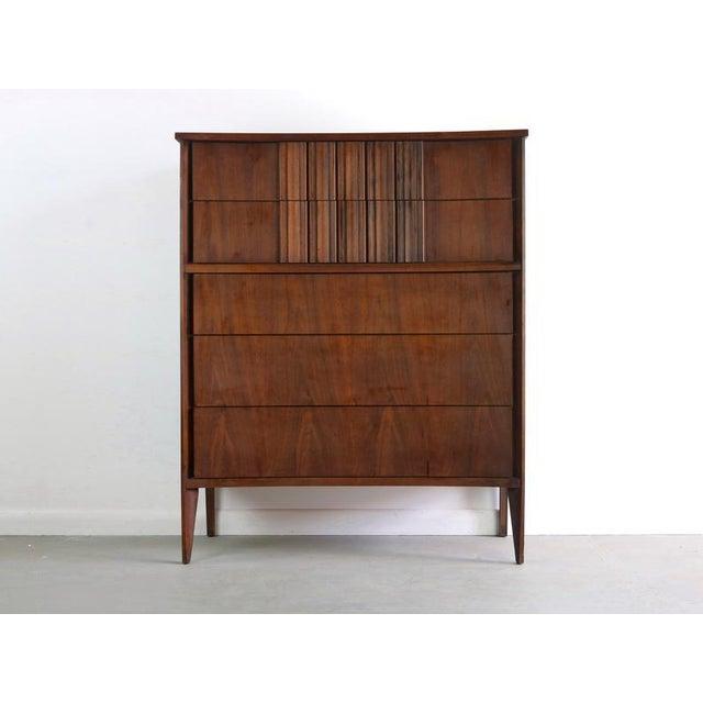 Mid-Century Modern Edmond Spence Tall Dresser in Walnut, Sweden For Sale - Image 3 of 11