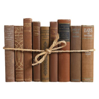 Vintage Chocolate ColorPak - Decorative Books in Shades of Brown For Sale