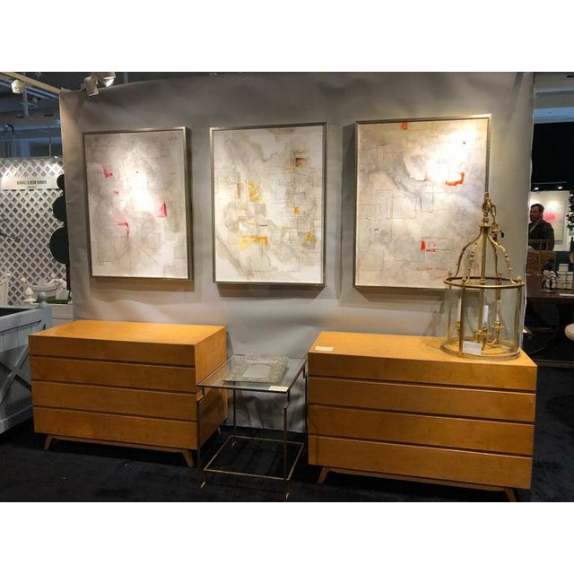 The ultimate in Mid-Century Modernism design, these golden birch Swedish commodes have wonderful proportions with the...
