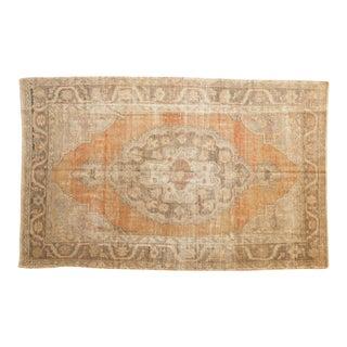"Vintage Distressed Oushak Carpet - 5'2"" X 8' For Sale"