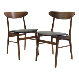 "1960s Danish Modern Farstrup ""The Smile"" Teak and Beech Dining Chairs - a Pair For Sale"