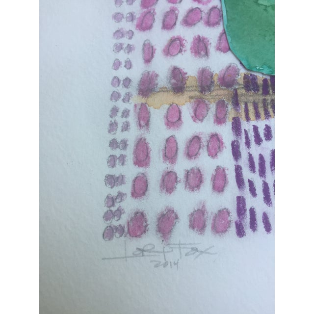 African Watercolor Collage - Image 5 of 6