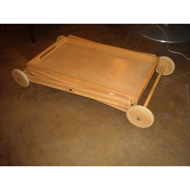 Richard Nissen Rare and Easy Bar and Tea Trolley Cart by Nissen Denmark For Sale - Image 4 of 5