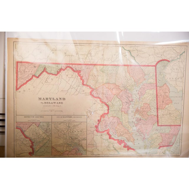 Old New House Cram's 1907 Map of Maryland For Sale - Image 4 of 8