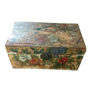 19th Century Chinese Leather Small Box For Sale