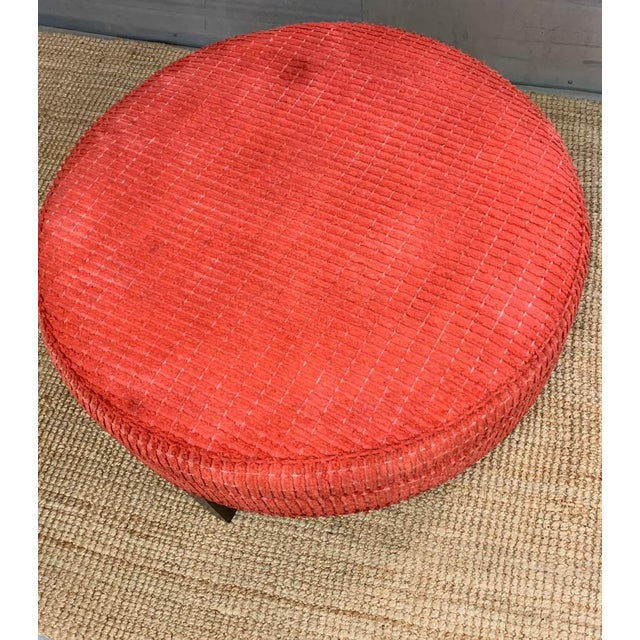 Mid 20th Century Large Mid Century Ottoman, Signed For Sale - Image 5 of 8