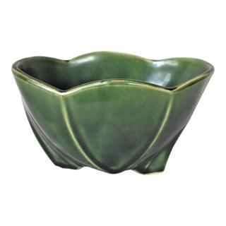 Vintage McCoy Green Bowl For Sale