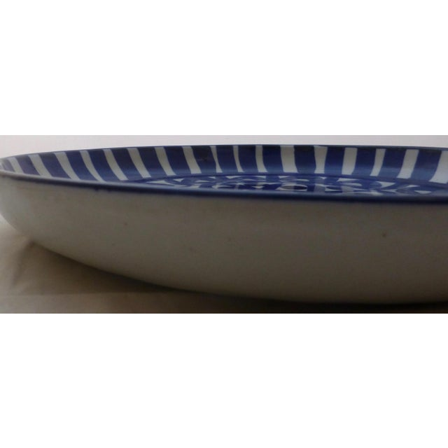1970s Vintage Blue & White Dansk Platter For Sale - Image 5 of 10