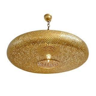 Brass Work Pancake Lantern Large For Sale