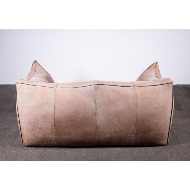 1970s 1970s Original Buffalo Leather Bambole Loveseat Sofa by Mario Bellini for B&b Italia For Sale - Image 5 of 9