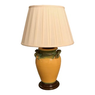 Mustard and Olive Mediterranean Style Lamp For Sale