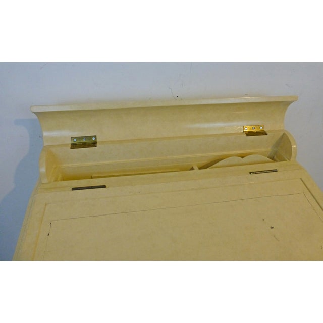 Creamy Lacquered Writing Desk - Image 6 of 8