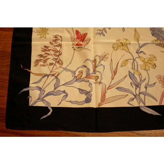 100% Hand-Rolled Silk Scarf for Pillow or Framing - Image 3 of 11