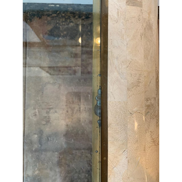 Maitland - Smith Maitland-Smith RectangleTessellated Stone & Brass Glass Top Coffee Table For Sale - Image 4 of 10