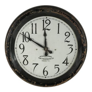 Vintage International Time Recording Co. Wall Clock