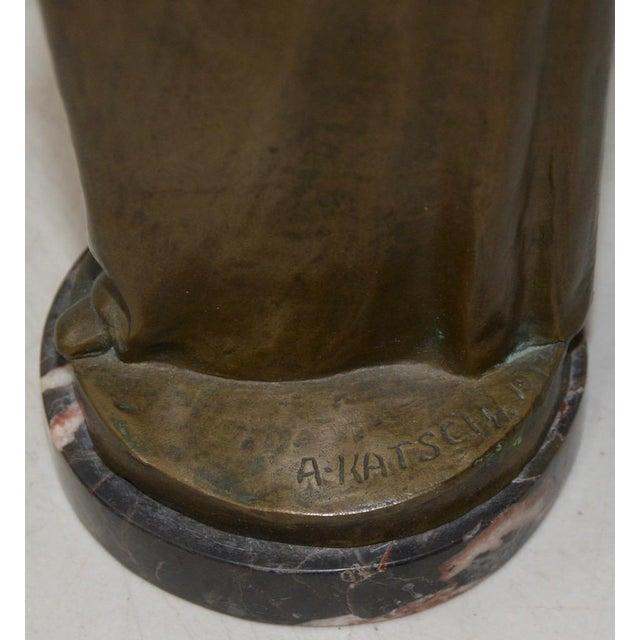 Bronze Arnold Katsch (German 1861-1928) Art Nouveau Bronze C.1912 For Sale - Image 7 of 9