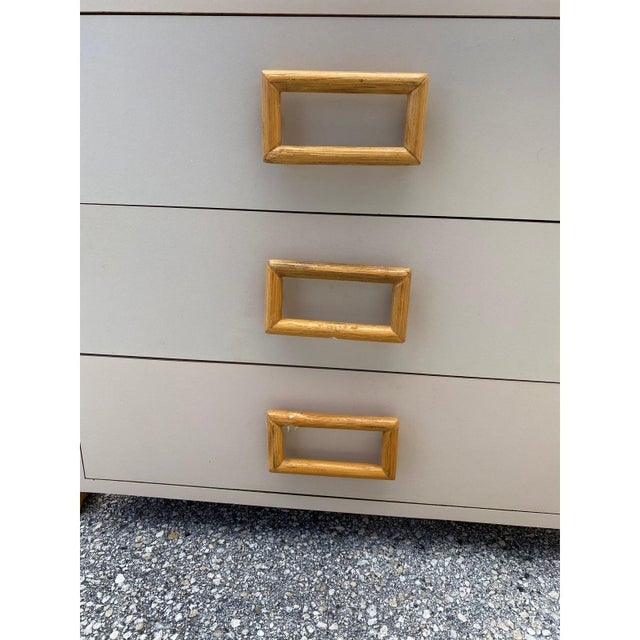 Mid-Century Modern 1970s Mid-Century Modern Rattan and Laminate Chests - a Pair For Sale - Image 3 of 9