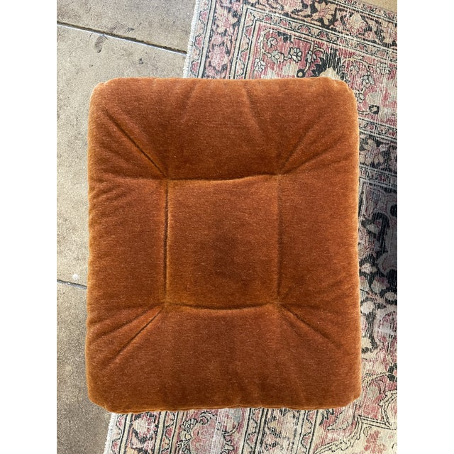 Ekornes ASA 1990s Ekornes Rust Mohair Recliner and Ottoman For Sale - Image 4 of 10