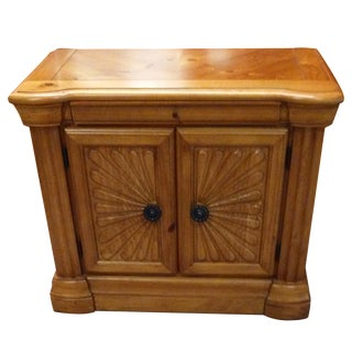 Wooden Inlay Nightstand For Sale