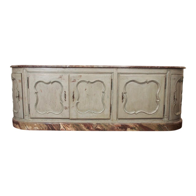 Louis XV Style Marble Top Buffet For Sale