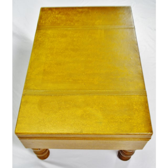 Vintage Faux Leather Suitcase Trunk Coffee Table For Sale - Image 9 of 13
