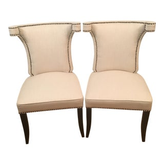 Arhaus Sonia Sand Side Chairs - A Pair