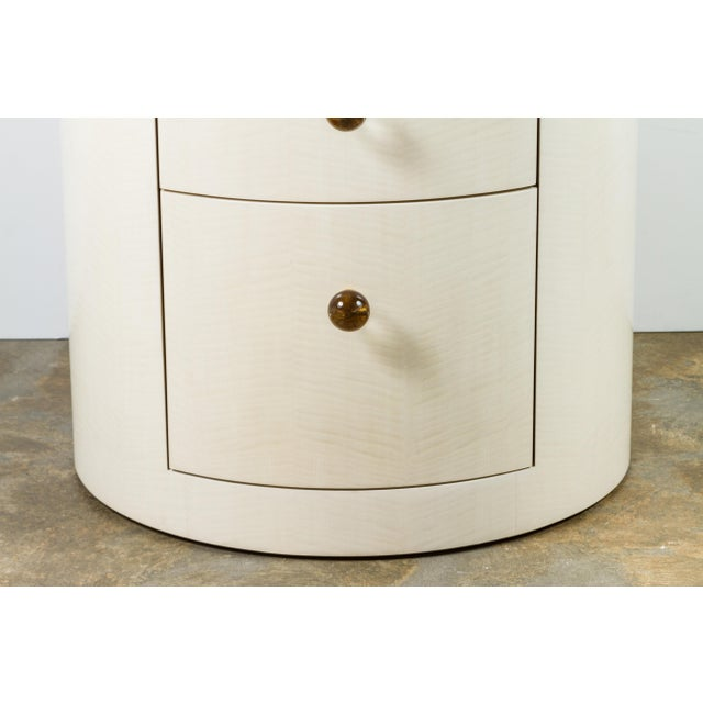 Paul Marra Italian-Inspired 1970s Style Round Nightstand For Sale - Image 4 of 8