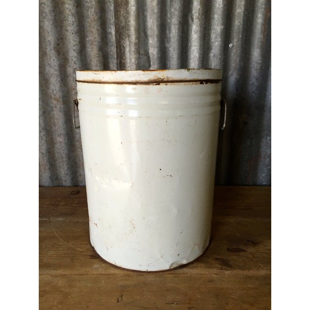 White Vintage Lard Container From Oklahoma For Sale - Image 8 of 11