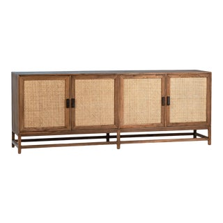 Modern Teak & Cane Sideboard For Sale