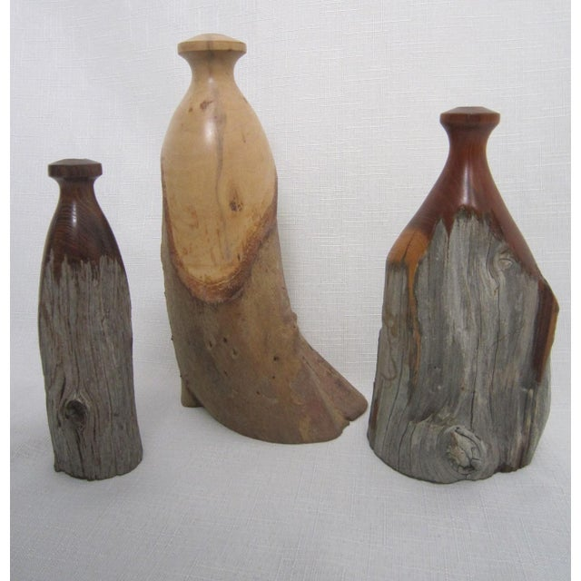 Vintage Burlwood Vases - Set of 3 - Image 2 of 4