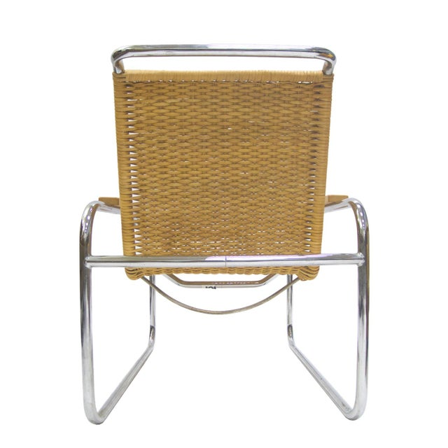 Marcel Breuer B 35 Lounge Chair for Thonet in Chrome and Woven Rattan - Image 5 of 6