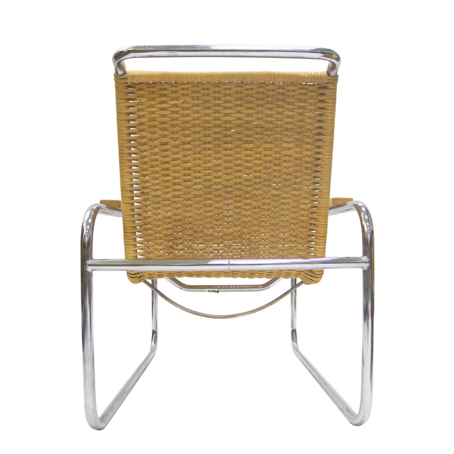 Marcel Breuer B 35 Lounge Chair For Thonet In Chrome And Woven Rattan    Image 5