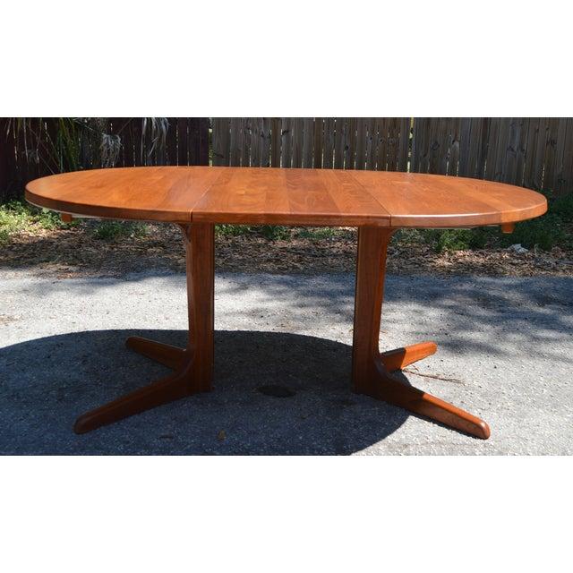 Mid-Century Danish Modern Teak Dining Table - Image 3 of 7