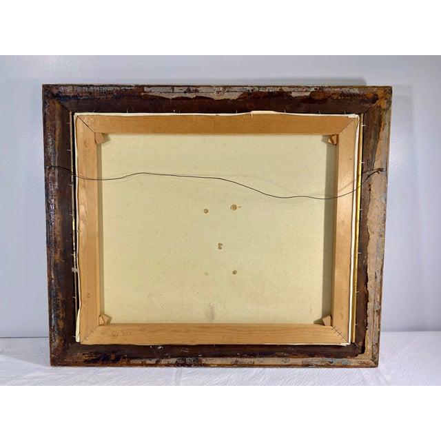 Antique Framed Hunt Scene Painting For Sale - Image 11 of 13