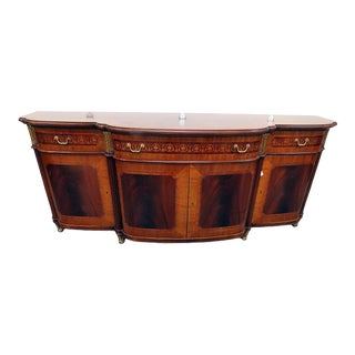 Decorative Crafts Regency Style Inlaid Sideboard For Sale