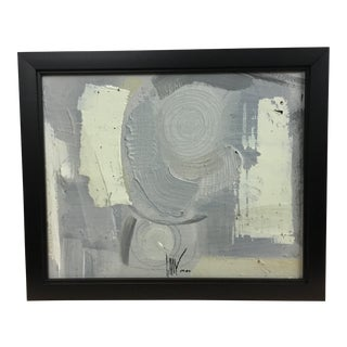 Graham Harmon Gray and White Abstract For Sale