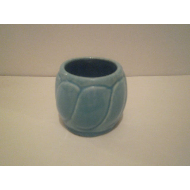 Small Turquoise Broadmoor Pottery Pot - Image 2 of 6