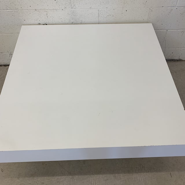 Contemporary Modern Tiered White Gloss Coffee Table For Sale - Image 4 of 10
