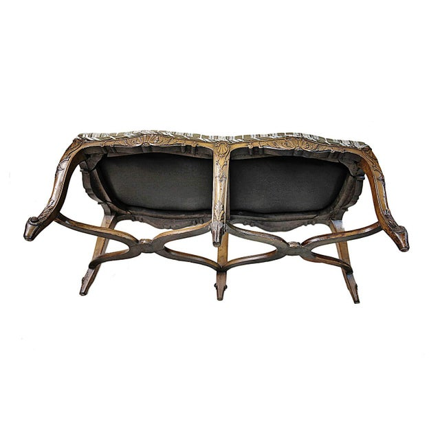 Bench - Antique Carved Bench - Image 2 of 5