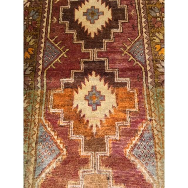 """Vintage Turkish Oushak Rug - 2'11"""" x 9'4"""" - Image 5 of 6"""