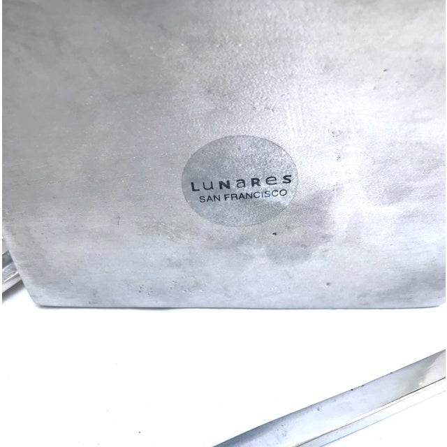 1980s Lunares San Francisco Cast Aluminum Chinese Take-Out Lidded Box With Chopsticks For Sale - Image 5 of 6