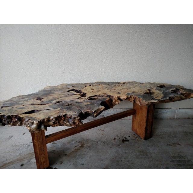 Gambrell Renard Burl Wood Coffee Table - Image 5 of 6