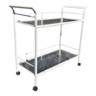 Brown Jordan Style Patio Server / Bar Cart For Sale