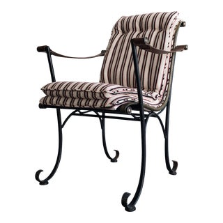 1960s Vintage Sculptural Metal-Framed Armchair For Sale