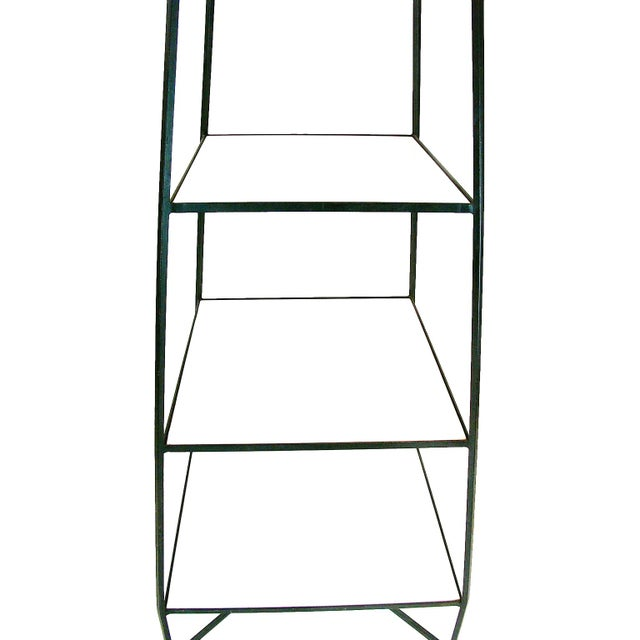 Tommi Parzinger Style Wrought Iron & Glass Etagere - Image 6 of 6