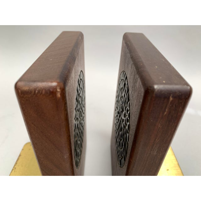 1960s Mid-Century Modern Walnut and Tile Bookends - a Pair For Sale - Image 5 of 10