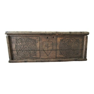 19th Century French Carved European Chest For Sale