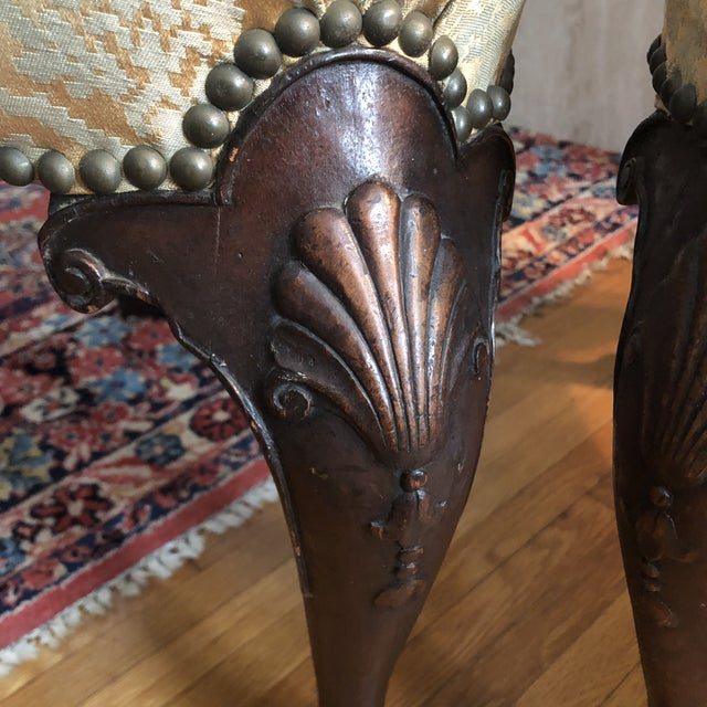 18th Century English Walnut or Mahogany George II Ball & Claw Side Chairs- A Pair For Sale - Image 9 of 13