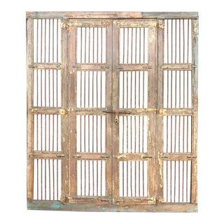 Aged Jali Large Door Frame For Sale