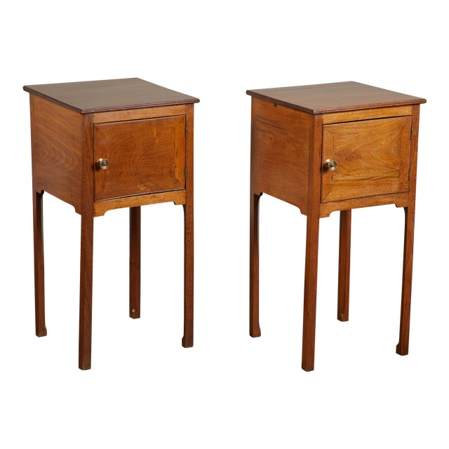 Pair of English George III Walnut Side Tables - Image 1 of 9